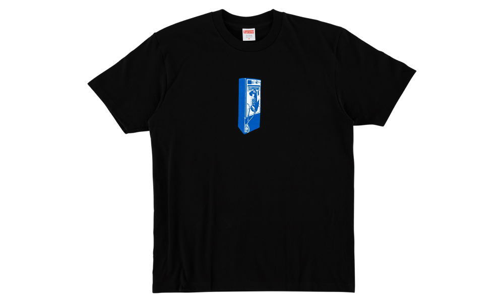"SUPREME PAYPHONE TEE ""BLACK"""