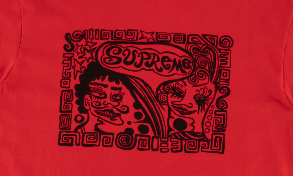"SUPREME FACE TEE""RED"""