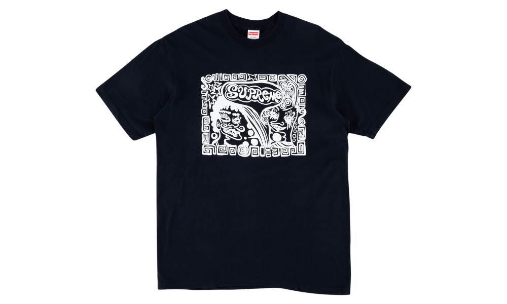 "SUPREME FACE TEE ""NAVY"""