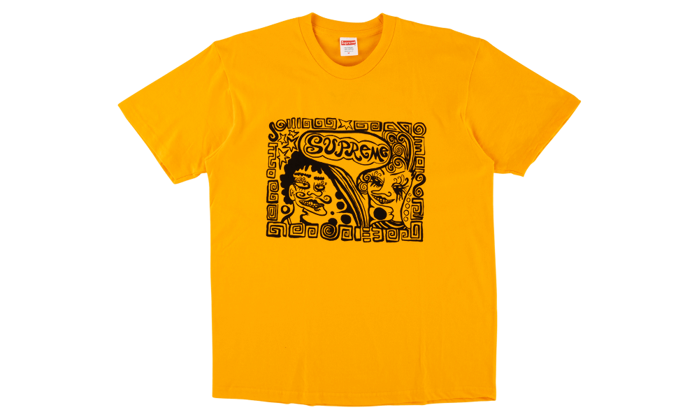 "SUPREME FACE TEE ""YELLOW"""