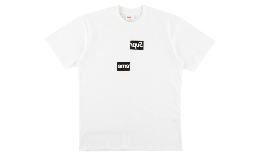 "SUPREME x CDG SPLIT BOX LOGO TEE ""WHITE"""