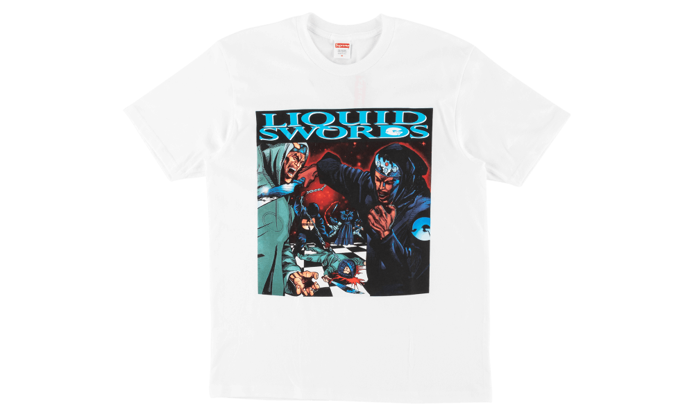 SUPREME LIQUID SWORDS TEE ''WHITE''