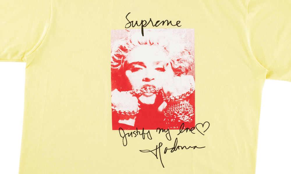 "SUPREME MADONNA TEE ""YELLOW"""