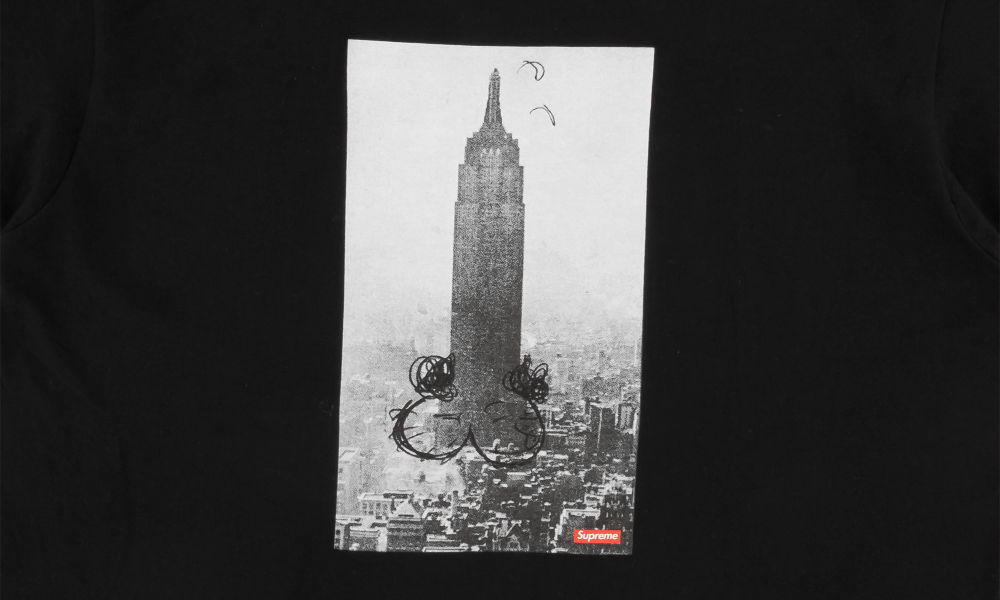 "SUPREME x MIKE KELLEY EMPIRE STATE TEE ""BLACK"""