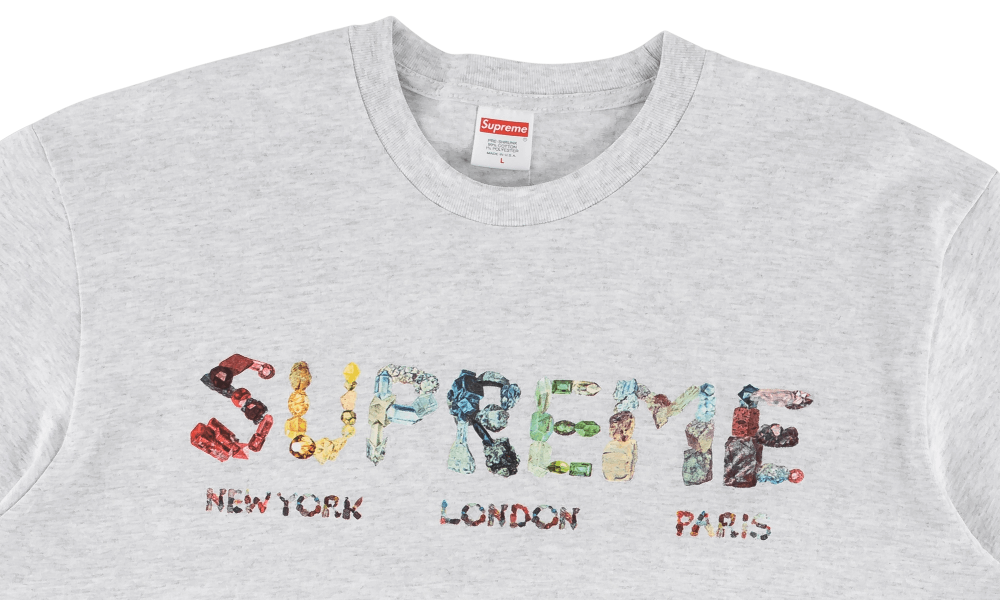 SUPREME ROCKS TEE ''ASH GREY''