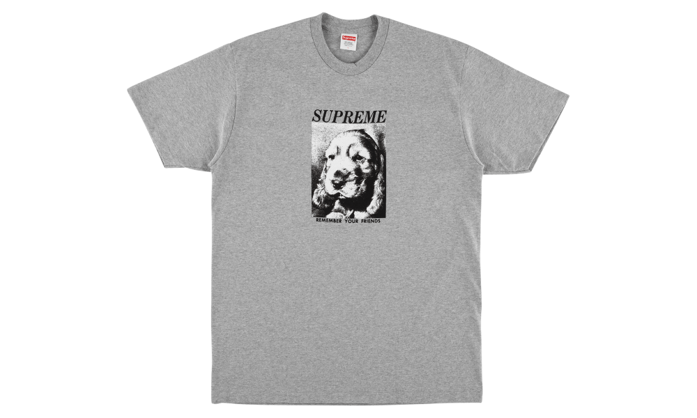 "SUPREME REMEMBER TEE ""GREY"""