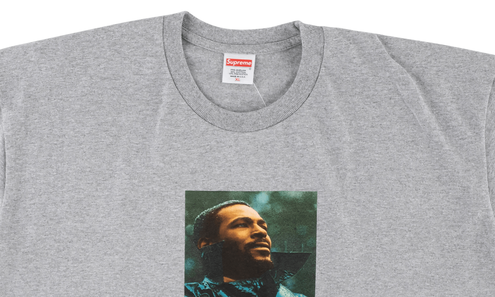 "SUPREME MARVIN GAYE TEE ""GREY"""