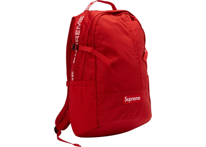 "SUPREME BACKPACK 18SS ""RED"""