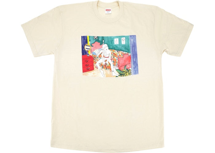 "SUPREME BED ROOM TEE ""NATURAL"""