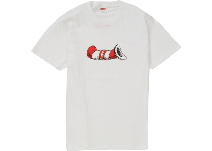 "SUPREME CAT IN THE HAT TEE ""WHITE"""