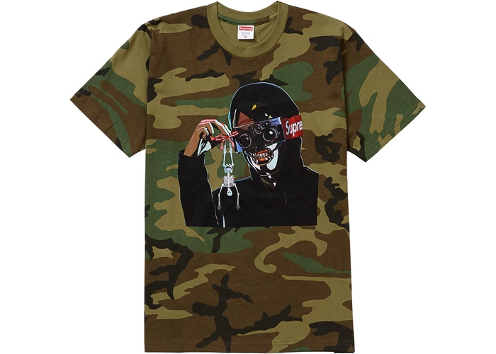 "SUPREME CREEPER TEE ""WOODLAND CAMO"""
