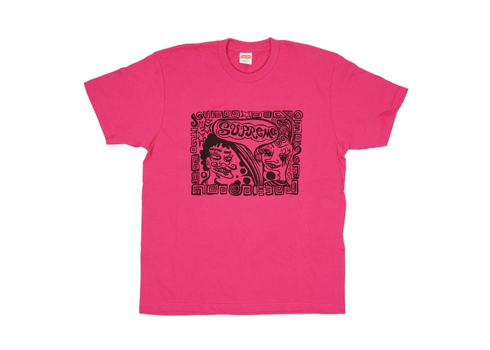 "SUPREME FACES TEE ""DARK PINK"""