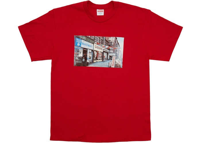 "SUPREME HARDWARE TEE ""RED"""