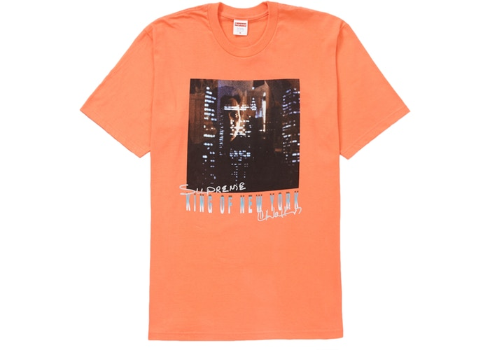 "SUPREME KING OF NEW YORK TEE ""NEON ORANGE"""