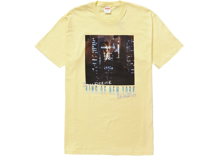 "SUPREME KING OF NEW YORK TEE ""PALE YELLOW"""