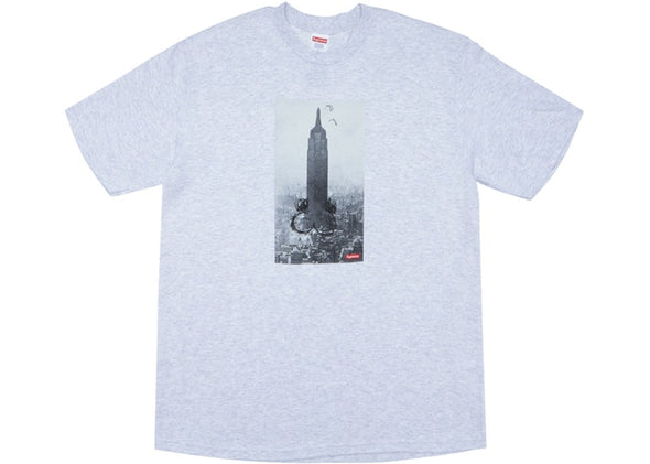 SUPREME  MIKE KELLEY THE EMPIRE STATE BUILDING TEE ''ASH GREY''