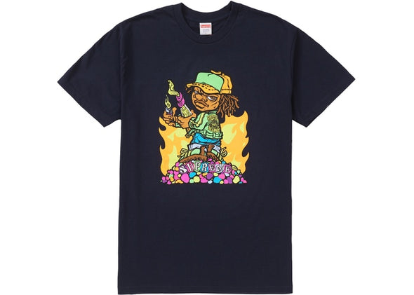 SUPREME MOLOTOV KID TEE ''NAVY''