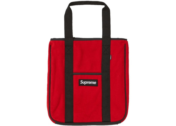 SUPREME POLARTEC TOTE BAG ''RED''