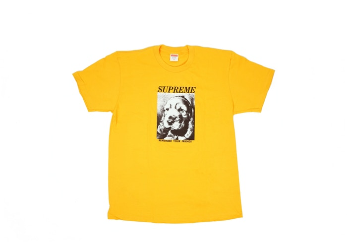 "SUPREME REMEMBER TEE ""BRIGHT ORANGE"""