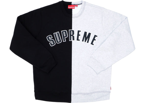 "SUPREME SPLIT CREWNECK ""GREY"""