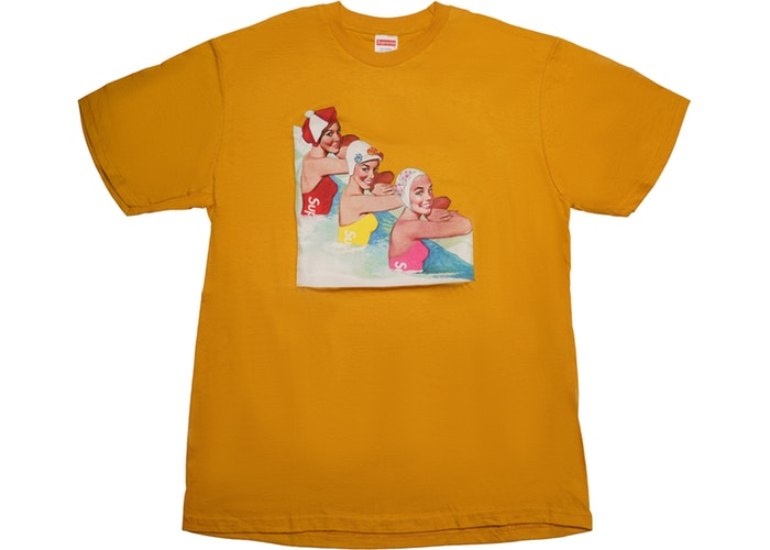 SUPREME SWIMMERS TEE ''MUSTARD''