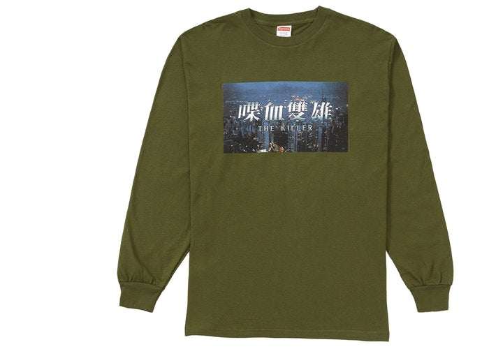 "SUPREME THE KILLER LONG SLEEVE ""OLIVE"""