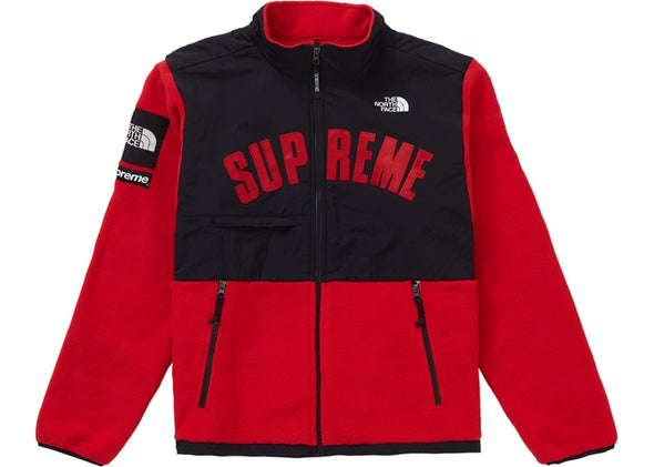 SUPREME X TNF FLEECE 'RED' USED