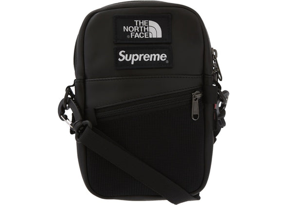 "SUPREME x TNF LEATHER SHOULDER BAG ""BLACK"""