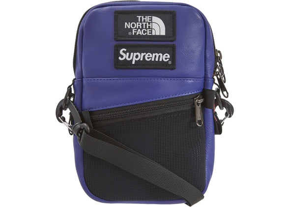 "SUPREME x TNF LEATHER SHOULDER BAG ""PURPLE"""