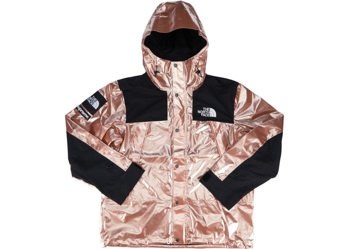 SUPREME TNF METALLIC MOUNTAIN PARKA ''ROSE GOLD''