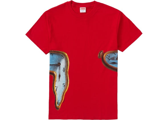 SUPREME THE PERSISTENCE OF MEMORY TEE ''RED''