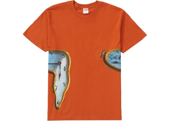 "SUPREME THE PERSISTENCE OF MEMORY TEE ""RUST"""