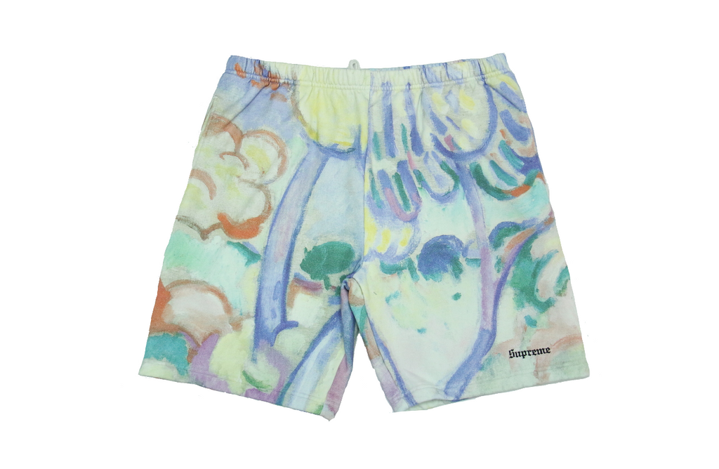 "SUPREME LANDSCAPE SWEATSHORTS ""MULTI COLOR"""
