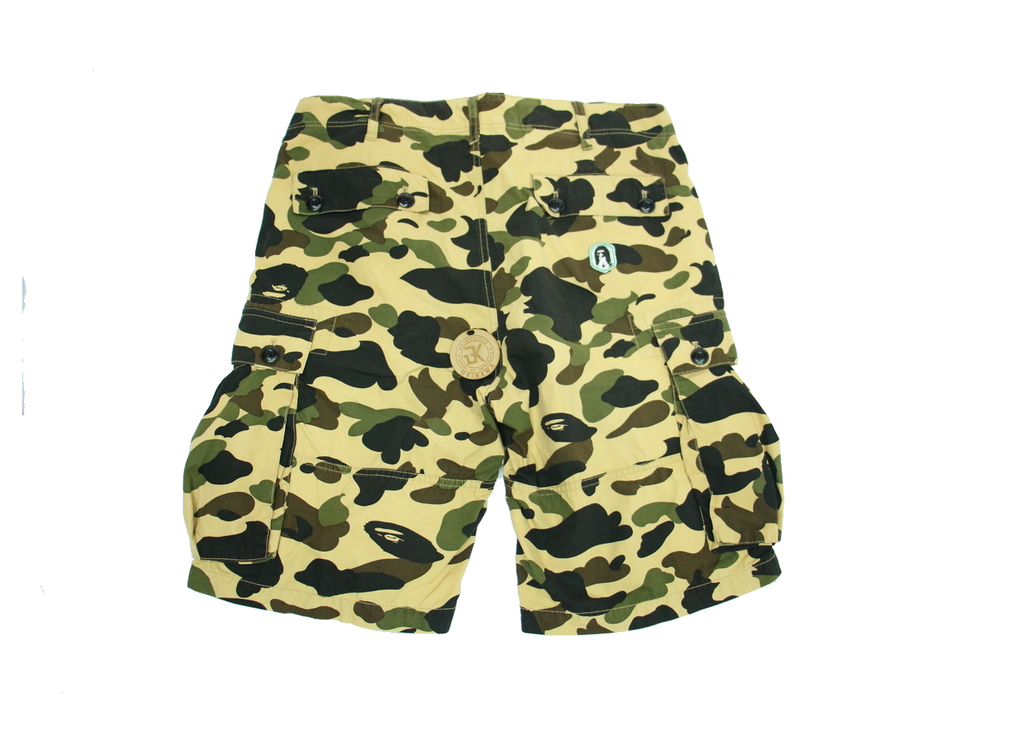 "BAPE CARGO SHORTS ""YELLOW CAMO"" ***USED/ 中古***"