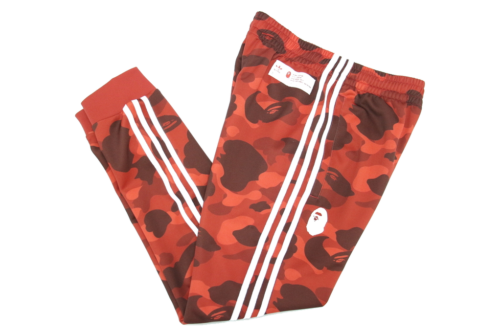 "BAPE x ADIDAS TRACK PANTS ""RED"""