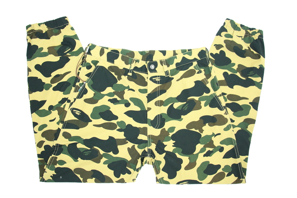 "BAPE JOGGER PANTS ""YELLOW CAMO"""