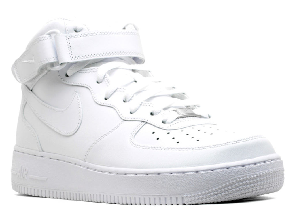 "NIKE AIR FORCE 1 MID ""WHITE"""