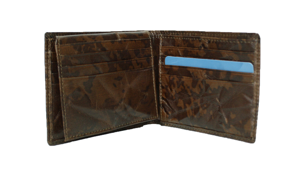 Parker Men's Vegan Wallet - Brown Origami