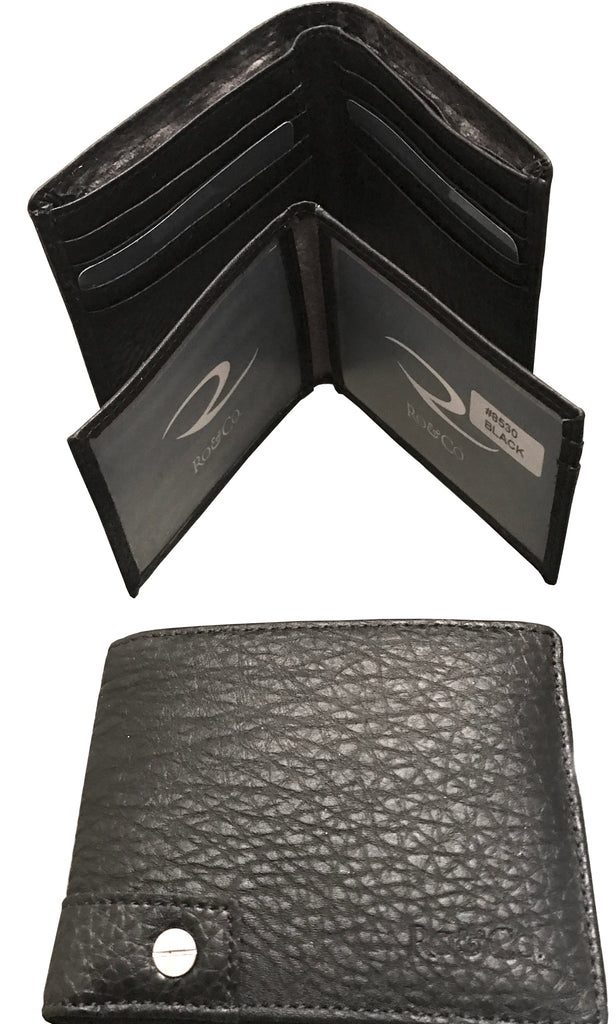 Brady Men's Vegan Wallet - Black Pebble