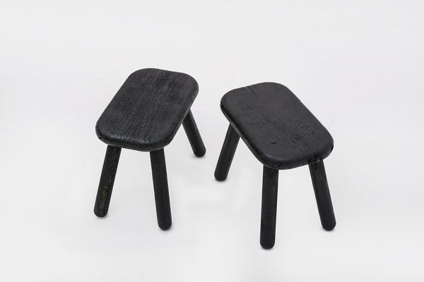 Charcoal Dough Stool Seat