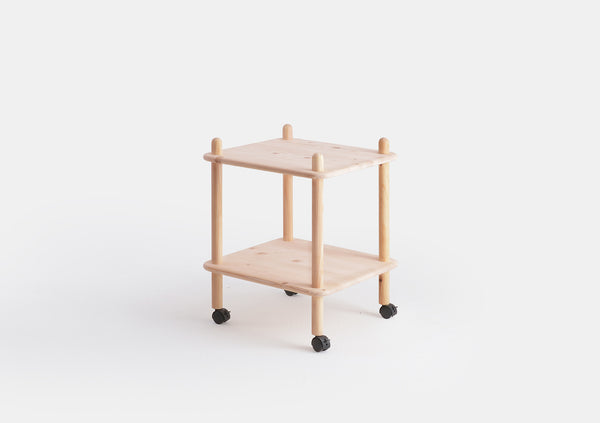 Knees Side Table Shelving Trolley