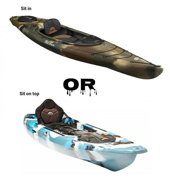 My top 5 things to look for when buying a sit on top or sit in fishing kayak