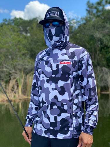 Performance hoodie with face mask