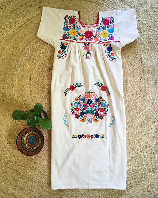Mexican Dress for Women in Calico