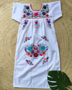 Mexican Dress for Women in White
