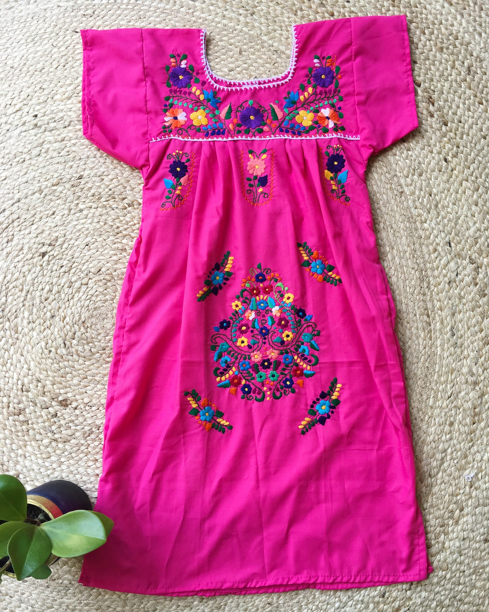 Mexican Dress for Women in Pink