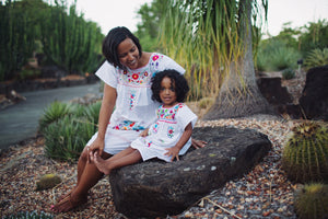Mexican Dresses for Women and Girls in White