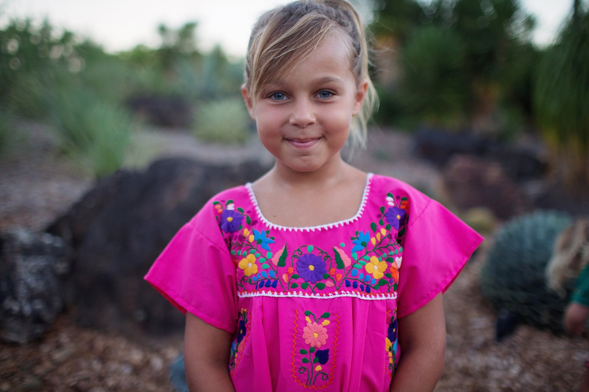 Mexican dresses for Girls - Mexican flower dress- Girls dress- Toddler dress- Boho girls- Bella Bonita