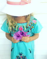 Mexican Dress for Girls in Mint