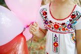 Mexican Dress for Girls in White